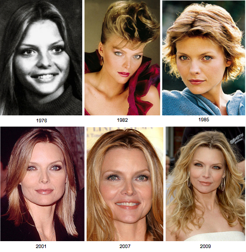 Michelle Pfeiffer before and after pictures (image hosted by fightfinelines.com)