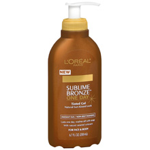 Loreal Sublime Bronze One Day tinted gel, beauty