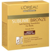 sublime bronze self tanning towelettes, the best self tanners, summer beauty